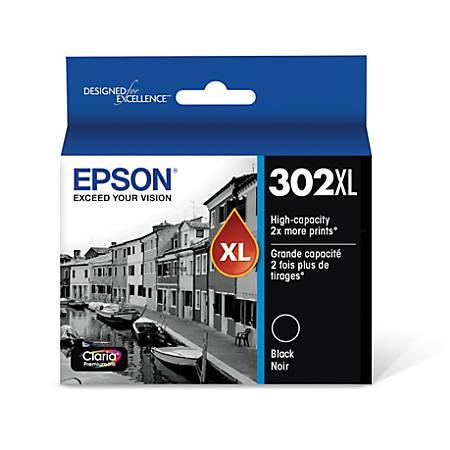 Epson® T302XL020-S High-Yield Black Ink Cartridge