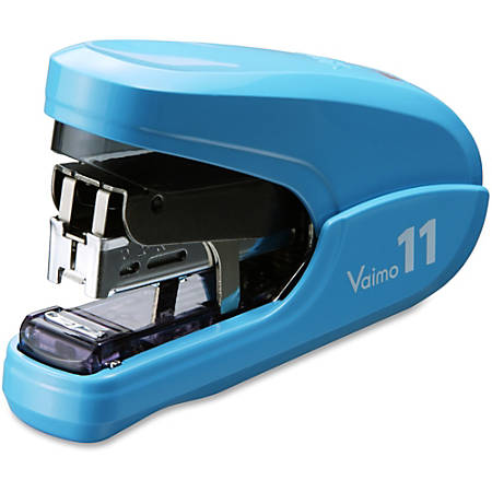 "MAX Vaimo 11 Compact Stapler - 35 Sheets Capacity - 100 Staple Capacity - 3/8"" Staple Size - Blue"