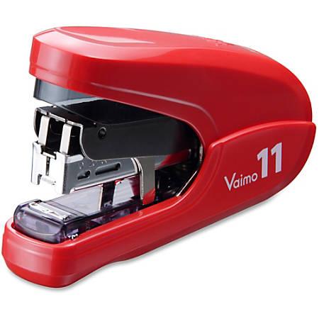 "MAX Vaimo 11 Compact Stapler - 35 Sheets Capacity - 100 Staple Capacity - 3/8"" Staple Size - Red"