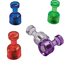 OIC Magnetic Pushpins Assorted Colors Box