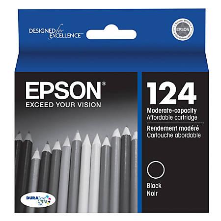 Epson® 124, (T124120) DuraBrite® Ultra Black Ink Cartridge