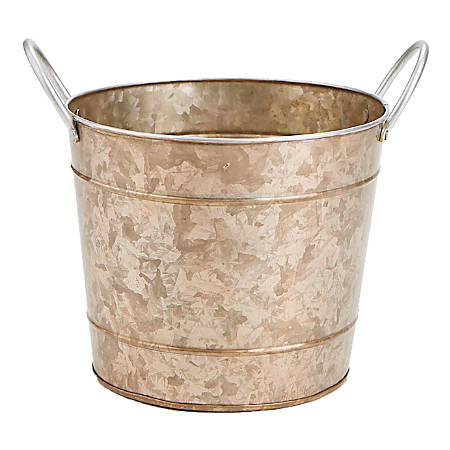 Mind Reader Copper-Plated Galvanized Metal Ice Bucket, Brown