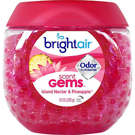 BRIGHT Air® Scent Gems™ Plus Odor Eliminator Beads Air Freshener, Island Nectar & Pineapple™, 10 Oz