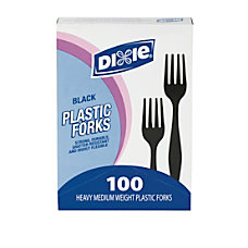 Dixie Medium Weight Utensils Forks Black