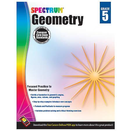 Carson-Dellosa Spectrum Math Workbook, Geometry, Grade 5