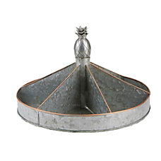 Mind Reader Galvanized Metal Lazy Susan