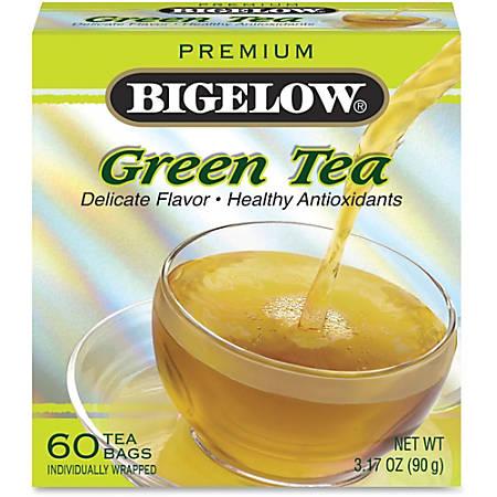 Bigelow Premium Blend Green Tea - Green Tea - 3.17 oz Per Box - 60 - 60 / Box