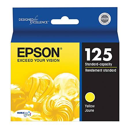 Epson® 125, (T125420) DuraBrite® Ultra Yellow Ink Cartridge