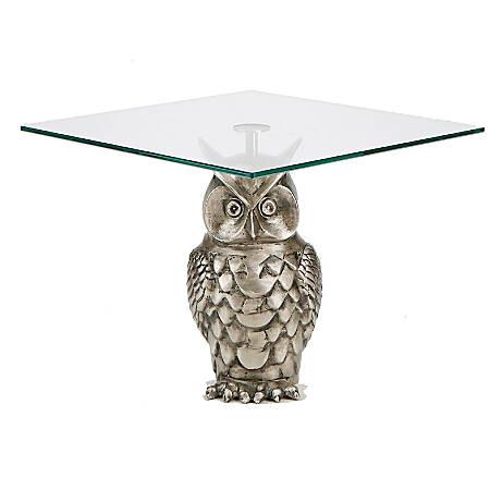 Mind Reader Owl Cake Stand, Silver