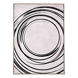 Zuo Modern Anillos Canvas Art BlackCream
