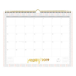 """Blue Sky™ Dabney Lee Monthly Wall Calendar, 15"""" x 12"""", Multicolor, January 2019 to December 2019"""