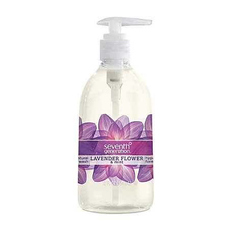 Seventh Generation™ Natural Hand Wash, Lavender Scent, 12 Oz, Carton Of 8 Bottles