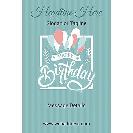 "A-Frame Sign, 24"" x 36"", Birthday Ballons"