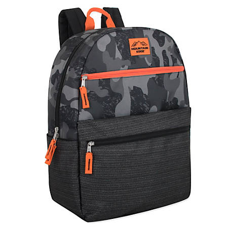 Trailmaker Camouflage Backpack, Gray/Orange