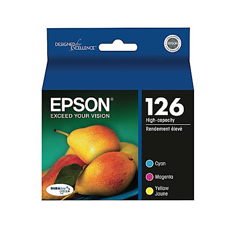 Epson® 126 DuraBrite® Ultra Tricolor Ink Cartridges (T126520), Pack Of 3