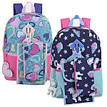 Trailmaker Girls' 5-In-1 Backpack Set, Assorted Designs