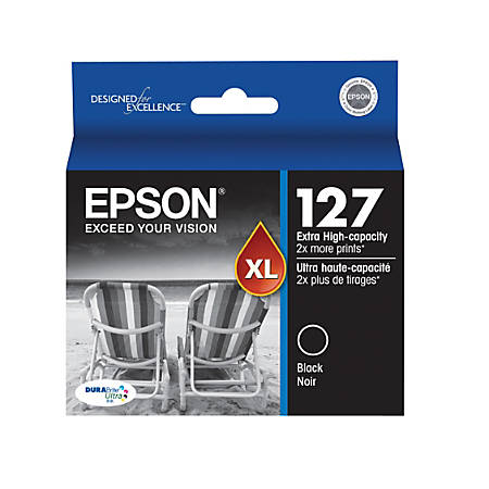 Epson® 127 DuraBrite® Ultra Extra-High-Capacity Black Ink Cartridge (T127120-S)