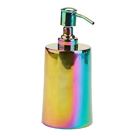 Mind Reader Iridescent Liquid Soap/Lotion Dispenser, 16 Oz, Multicolor
