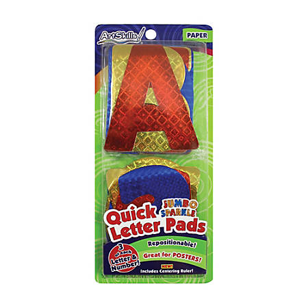 """ArtSkills® 100% Recycled Quick Letters, 4"""", Assorted Holographic Colors, Pack Of 108"""