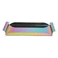 Mind Reader Iridescent Rectangular Serving Tray