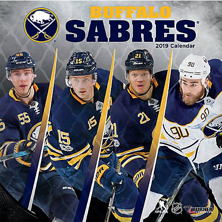"Turner Sports Monthly Wall Calendar, 12"" x 12"", Buffalo Sabres, January to December 2019"