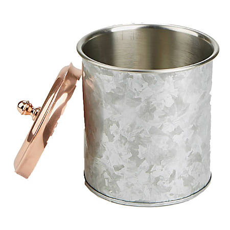 Mind Reader Brass And Stainless Steel Ice Bucket, Silver