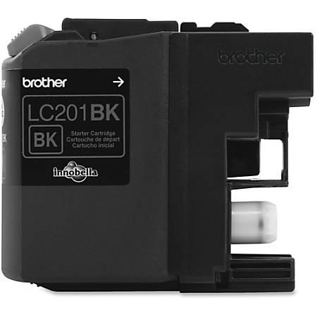 Brother Genuine Innobella LC201BK Black Ink Cartridge - Inkjet - Standard Yield - 260 Pages - Black - 1 Each
