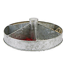 Mind Reader Flat Lazy Susan Silver