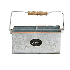 Mind Reader WoodGalvanized Metal 3 Compartment