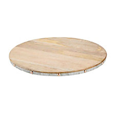 Mind Reader Wood Lazy Susan Brown