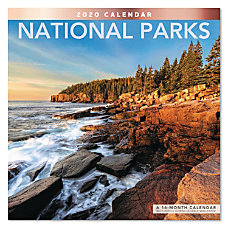 Mead National Parks Monthly Wall Calendar