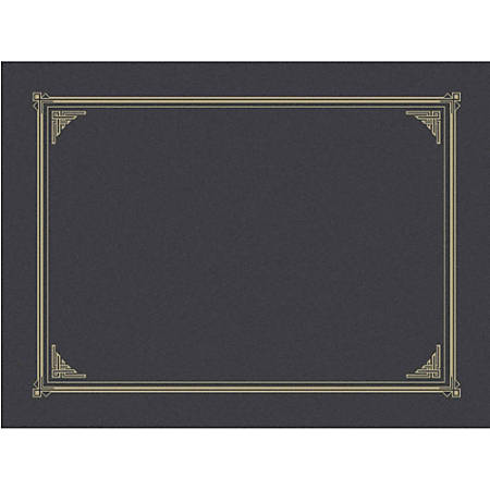 """Geographics Award Certificate Gold Design Covers - A4, Letter - 8 19/64"""" x 11 45/64"""", 8 1/2"""" x 11"""", 8"""" x 10"""" Sheet Size - Metallic Gray - Recycled - 6 / Pack"""