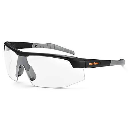 Ergodyne Skullerz Safety Glasses, Sköll, Matte Black Frame Clear Anti-Fog Lens