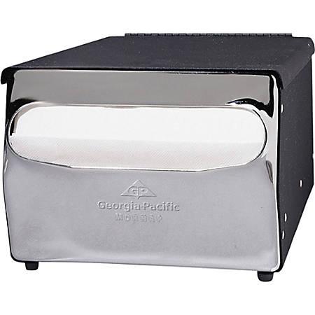 "Georgia-Pacific Cafeteria Napkin Dispenser, 5 7/8"" x 7 7/8"" x 11 1/2"", Black Chrome"