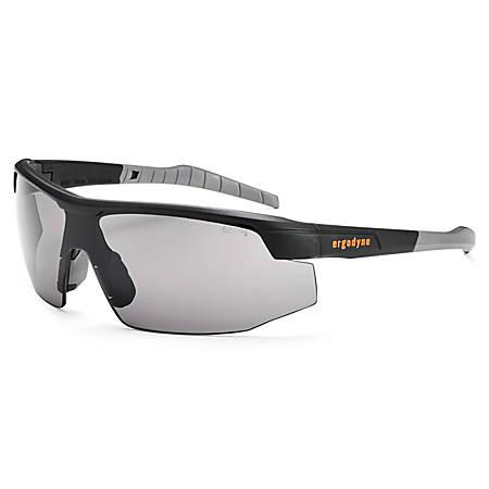 Ergodyne Skullerz Safety Glasses, Sköll, Matte Black Frame Smoke Lens
