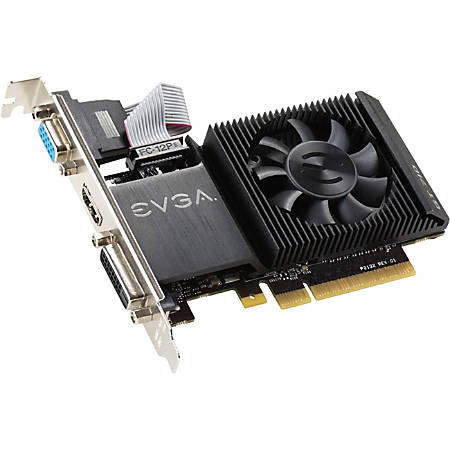 EVGA GeForce GT 710 Graphic Card - 954 MHz Core - 1 GB DDR3 SDRAM - Low-profile - Single Slot Space Required