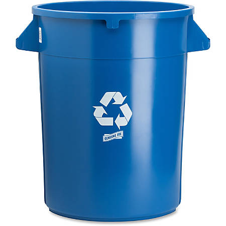 Genuine Joe Heavy-duty Trash Container - 32 gal Capacity - Plastic - Blue