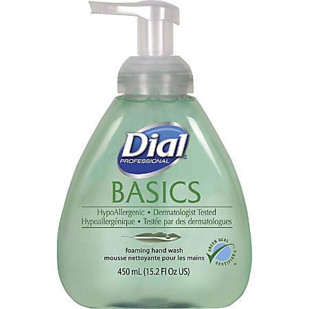 Dial Basics HypoAllergenic Foam Hand Soap - Fresh Scent Scent - 15.20 oz - Pump Bottle Dispenser - Hand - Green - Hypoallergenic - 4 / Carton