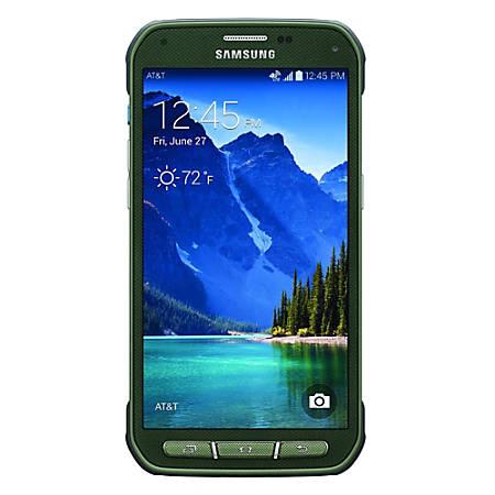 Samsung Galaxy S5 Active G870A Cell Phone, Camo Green, PSN100570