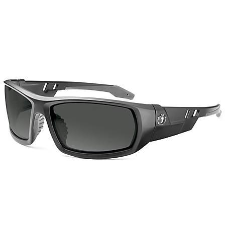 Ergodyne Skullerz Safety Glasses, Odin, Matte Black Frame Smoke Lens