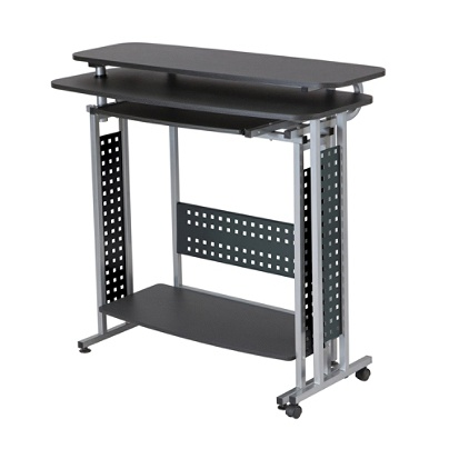 Safco Scoot Standing Height Desk With Rotating Work Surface Black By - Rotating work table