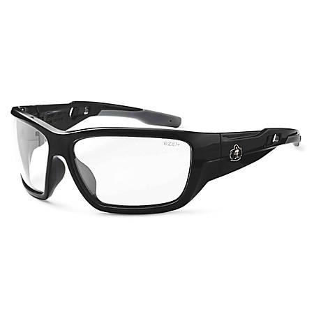 Ergodyne Skullerz Safety Glasses, Baldr, Black Frame Anti-Fog Clear Lens