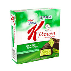 Special K Protein Meal Bar Chocolaty Dipped Mint, 1.59 oz, 8 Count, 2 Pack