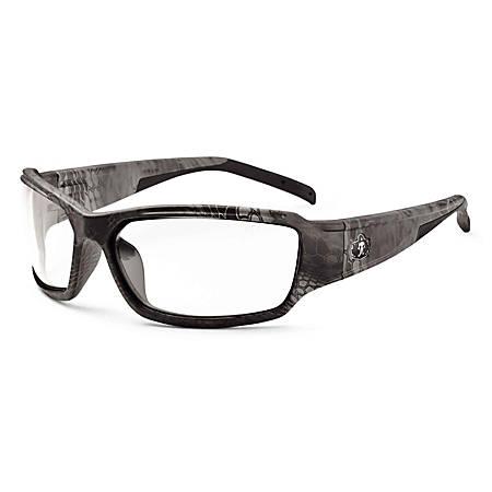 Ergodyne Skullerz Safety Glasses, Thor, Kryptek Typhon Frame Clear Lens