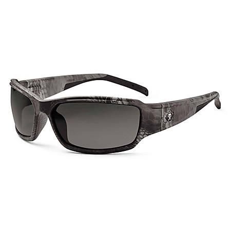 Ergodyne Skullerz Safety Glasses, Thor, Kryptek Typhon Frame Smoke Lens
