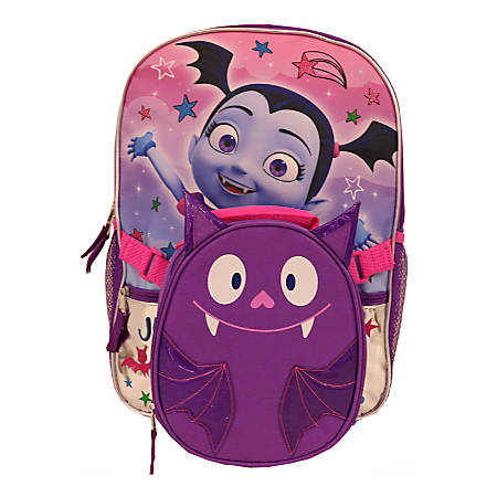 Vampirina Sublimation Print Backpack With Lunch Kit, Purple