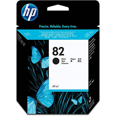 HP 82 Original Ink Cartridge - Single Pack - Inkjet - Black - 1 Each