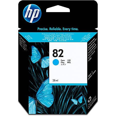HP 82 - 28 ml - dye-based cyan - original - DesignJet - ink cartridge - for DesignJet 100, 120, 20, 500, 510, 800, 815, 820; Designjet Copier cc800
