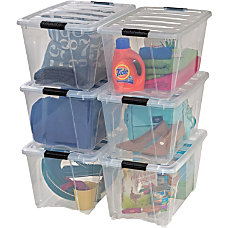 Iris Stackable Clear Storage Boxes Internal