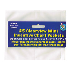 Ashley Productions Mini Incentive Chart Pockets